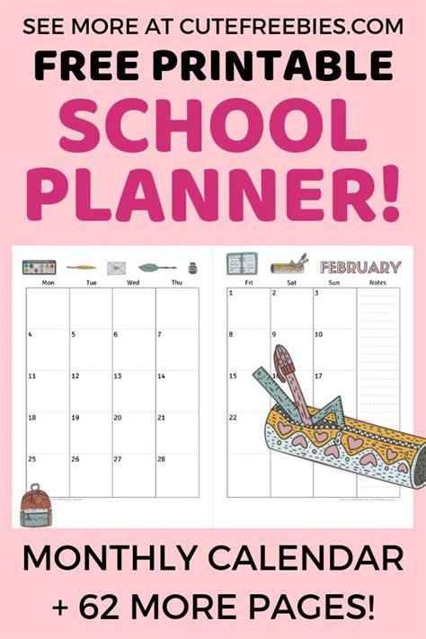 printable school planner    school