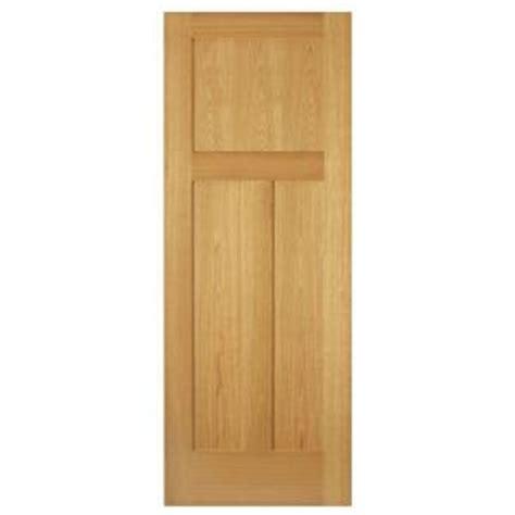 oak interior doors home depot steves sons 30 in x 80 in 3 panel mission unfinished red oak interior door slab m64odnnnac99