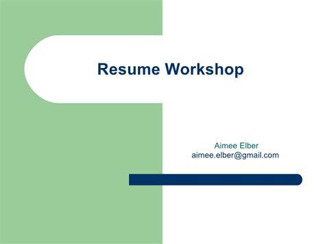 Resume Workshop by Resume Workshop