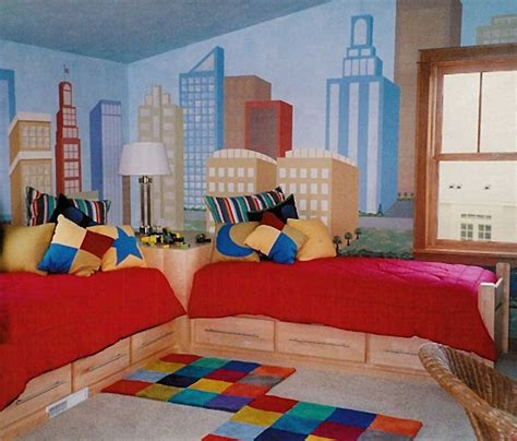 twin bed for boy boys bedroom rooms city scapes 17609