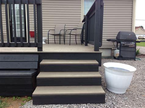 toned deck gray floor black rails   home
