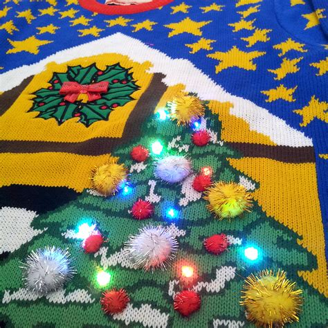 history of lighted jumpers cheesy christmas jumpers