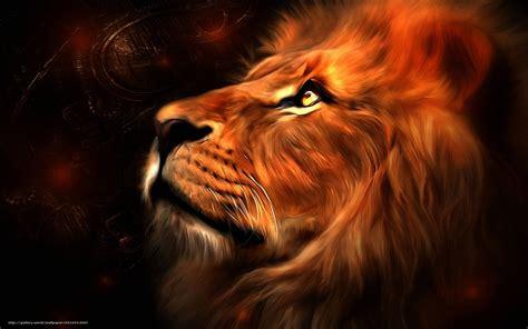 Download wallpaper Art, picture, lion free desktop ...