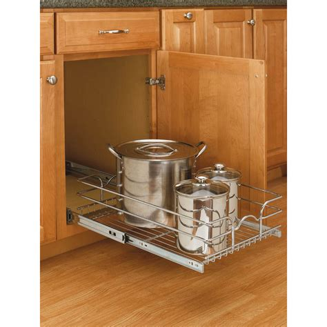rev a shelf pull out shop rev a shelf 14 38 in w x 7 in 1 tier pull out metal