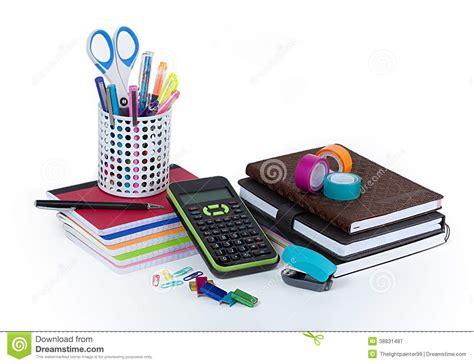 bureau fourniture fournitures de bureau d 39 école et image stock image du