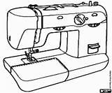 Sewing Machine Coloring Naaimachine Colorear Herramientas Coser Costura Tools Utensilios Zum Maszyna Kleurplaten Gereedschappen Dibujos Szycia Maquina Ausdrucken Utensils Bild sketch template