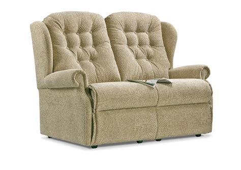 Small Corner Settee by Lynton Small Fabric Fixed 2 Seater Settee Sherborne