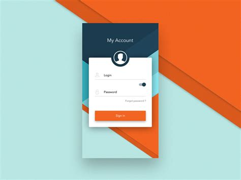 login app for android login android app by michal parulski dribbble
