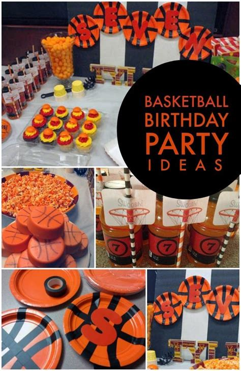 birthday party ideas rookie boy s basketball themed birthday party spaceships and