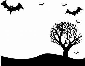 Clipart - Halloween landscape