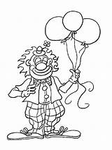 Coloring Pages Clown Printable sketch template