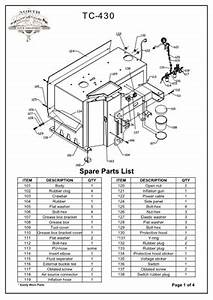 tc 430 parts breakdown replacement parts for the tc 430 With heavyduty air compressor aeration and storage tank systems