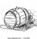 Barrel Wine Clipart Beer Illustration Retro Vector Barrels Royalty Grapes Prawny Whisky Cradle Frame Clipground Clipartof Kid sketch template