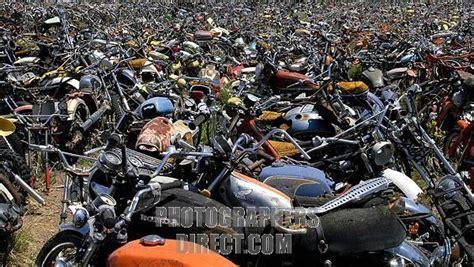 Stock Photography Image Of Motorcycle Junkyard