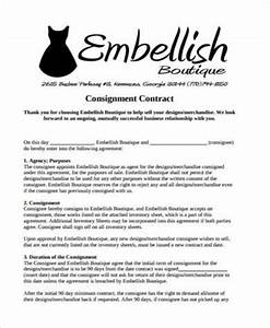 sample consignment contract forms 9 free documents in pdf With consignment shop contract template