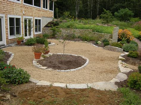 rock patio ideas loose stone patio houses flooring picture ideas blogule