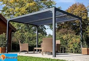 Pergola Bois Bioclimatique : pergola alu 3 60x3m bioclimatique avec lames de toit orientables ~ Louise-bijoux.com Idées de Décoration
