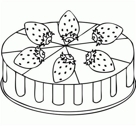 simple cake coloring pages  children afvj