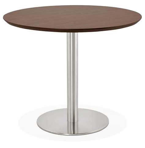 table ronde de bureau table de bureau ronde indiana en bois finition noyer