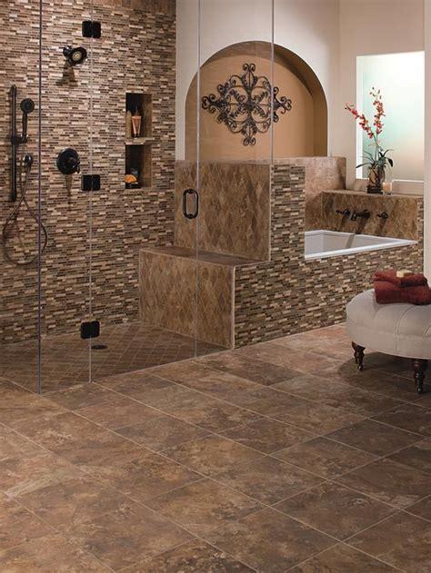 brown bathroom floor tiles ideas  pictures
