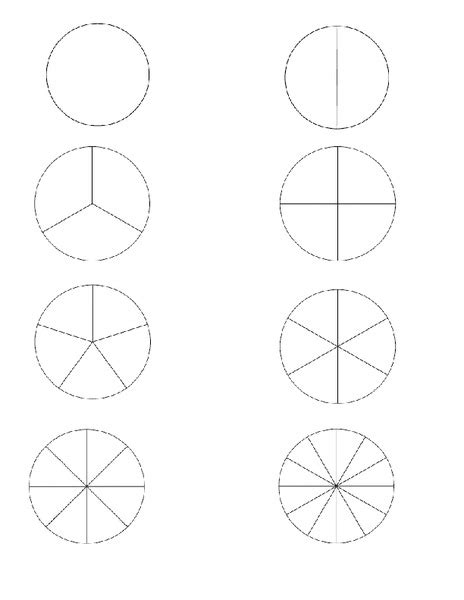 Number Names Worksheets Printable Circle Template Free Number Names Worksheets 187 Fraction Circles Printable