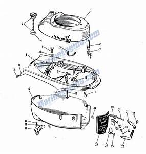 Johnson Motor Cover Group Parts For 1962 3hp Jw