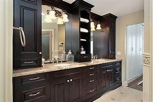 bathroom vanity ideas on choosing yours quinjucom With choosing custom bathroom cabinets over toilet
