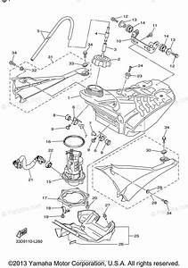 Yamaha Motorcycle 2013 Oem Parts Diagram For Fuel Tank