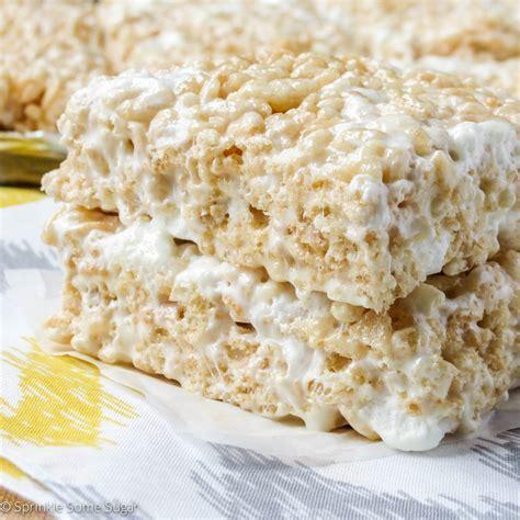 rice krispies treats recipe perfect rice krispie treats sprinkle some sugar