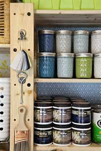 Paint Storage Room Organization