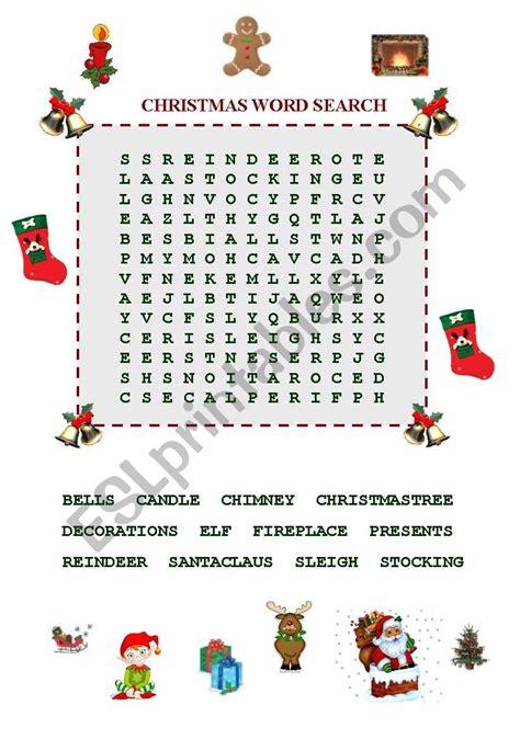 christmas word search esl worksheet by ayşimg 252 ler