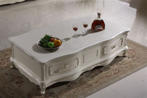 You can never have too many hiding places for your stuff. white wooden coffee table storage drawer marble top made ...