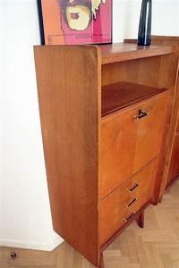 Bureau Secretaire Vintage : secr taire bureau vintage scandinave 3 tiroirs 50 39 s ~ Teatrodelosmanantiales.com Idées de Décoration