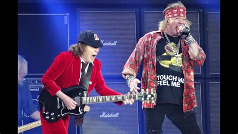 axl rose und ac dc ac dc and axl rose back in black hd ceres park aarhus