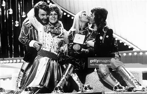 """However, its true boom was in the 80's with artists like madonna or michael jackson, who are considered the queen and king of this. 4th July 1974, Brighton, England, Swedish pop group """"Abba"""" celebrate... News Photo - Getty Images"""