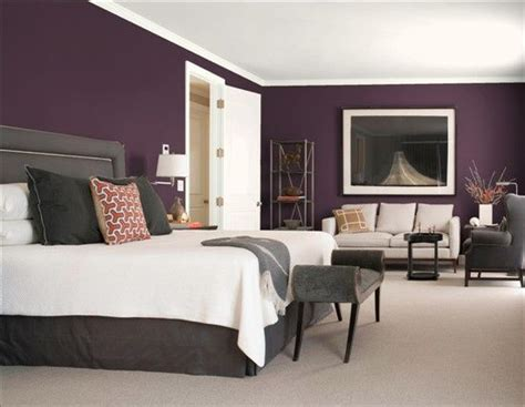 purple gray  gorgeous bedroom color schemes