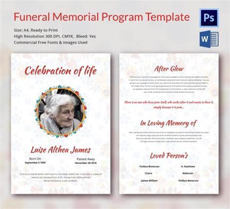 funeral program template  word psd document