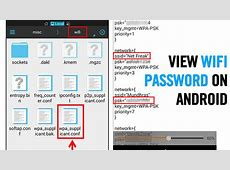 How To View Saved Wifi Passwords In Android 2 Methods