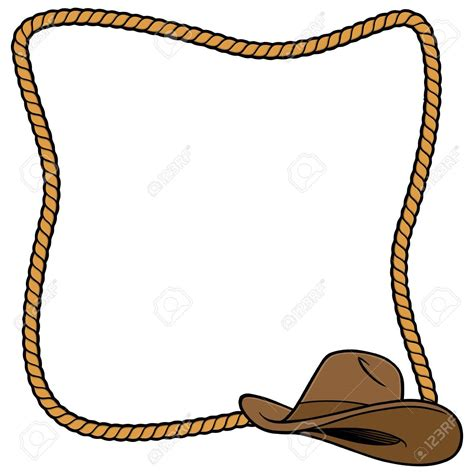 Rope Border Clipart Cowboy Hat Clipart Rope Border Free Clipart On