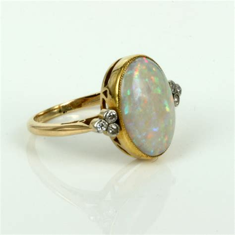 Opel Ring by Buy Deco Opal And Ring From The 1920 S Sold