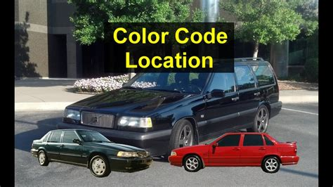how to find the color code for your car paint and interior