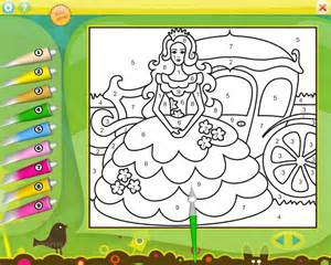 Princess Color by Number Printables