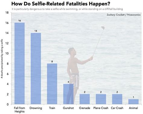 the numbers selfie deaths around the world