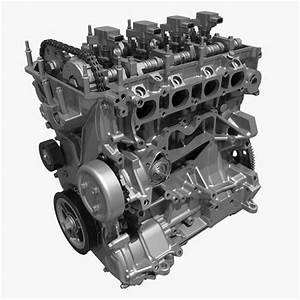 4 Cylinder Engine Block 01 3d
