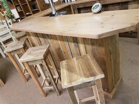 secondhand chairs  tables bar units rustic