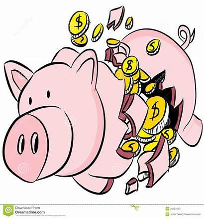 Piggy Bank Broken Clipart Clip Vector Fotosearch
