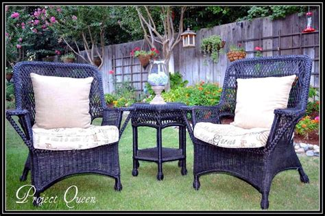 the images collection of painted wicker patio furniture