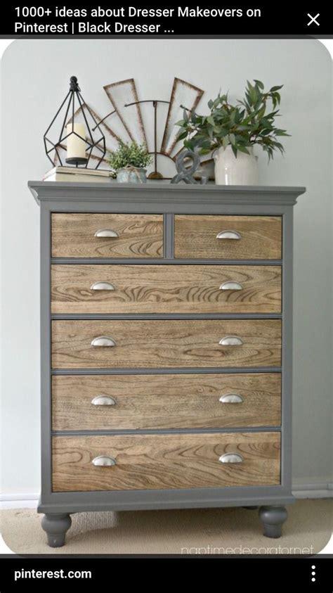 Ideas Dresser by Two Tone W Wood Dresser Idea Do N Home Decor Diy