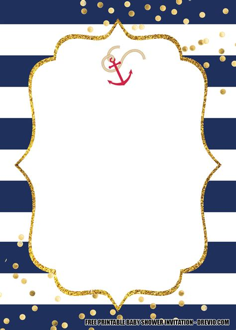 nautical baby shower invitation templates