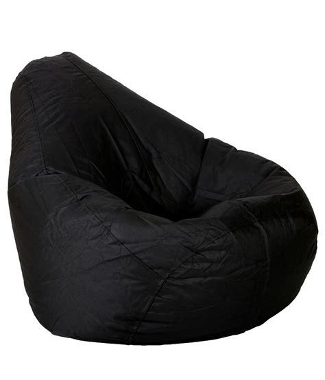 biggie bean bag xl size black filled buy at best